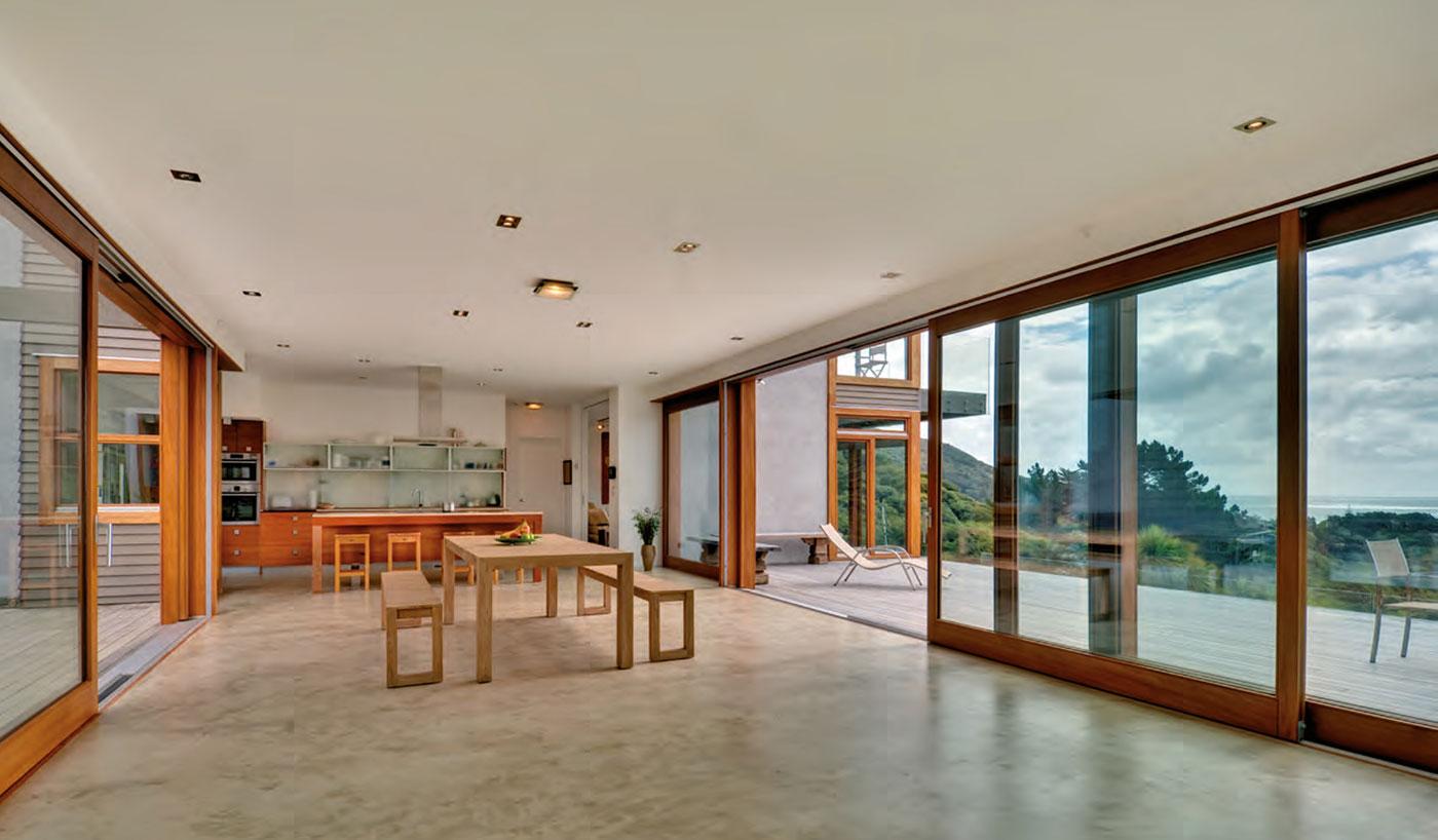 Terrassentüren mit Holzoptik der Marke Köhler's Fenster von Ottis Fenster und Türen