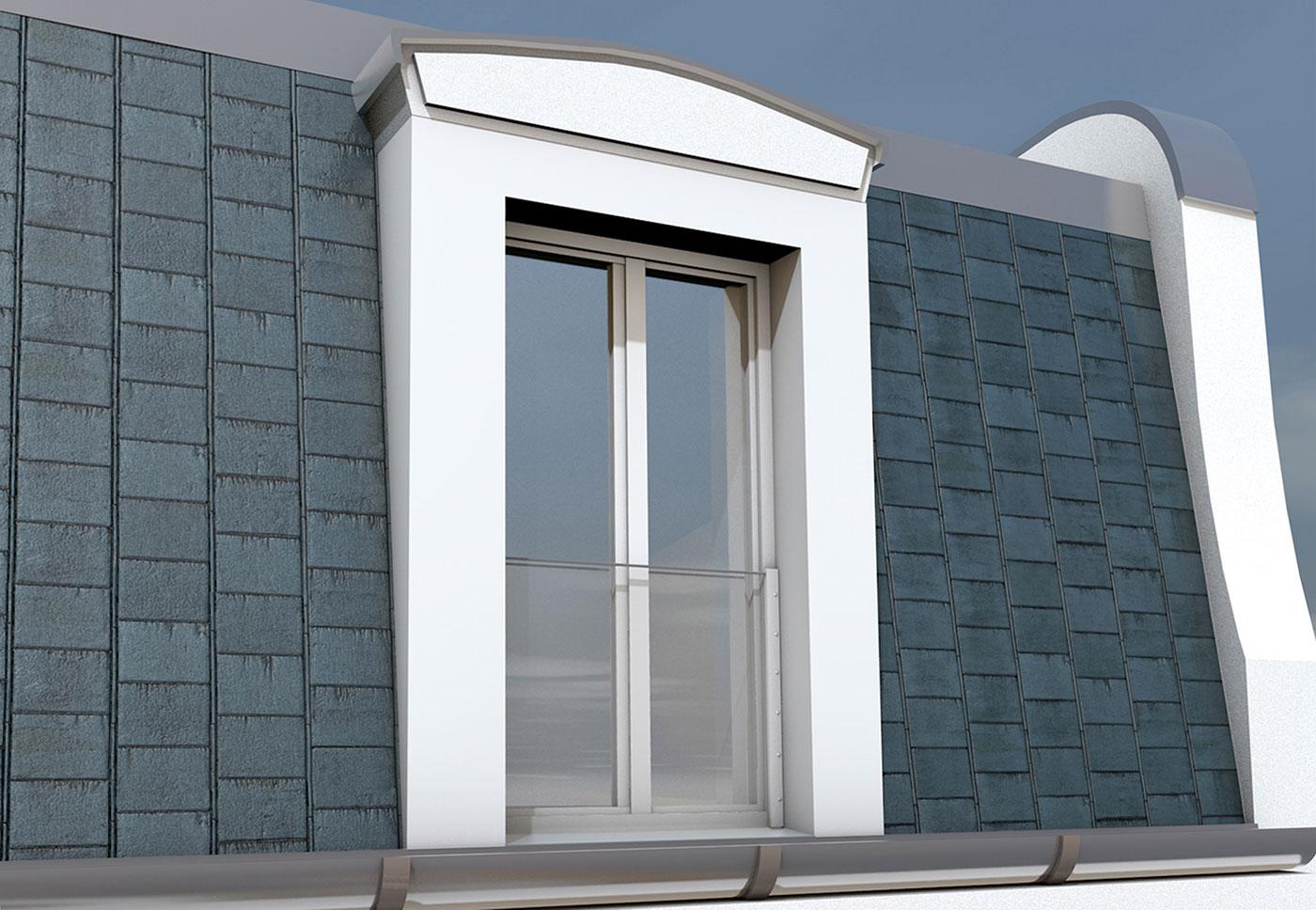 Großes Fenster mit aus Kunststoff mit Absturzsicherung von Ottis Türen und Fenster