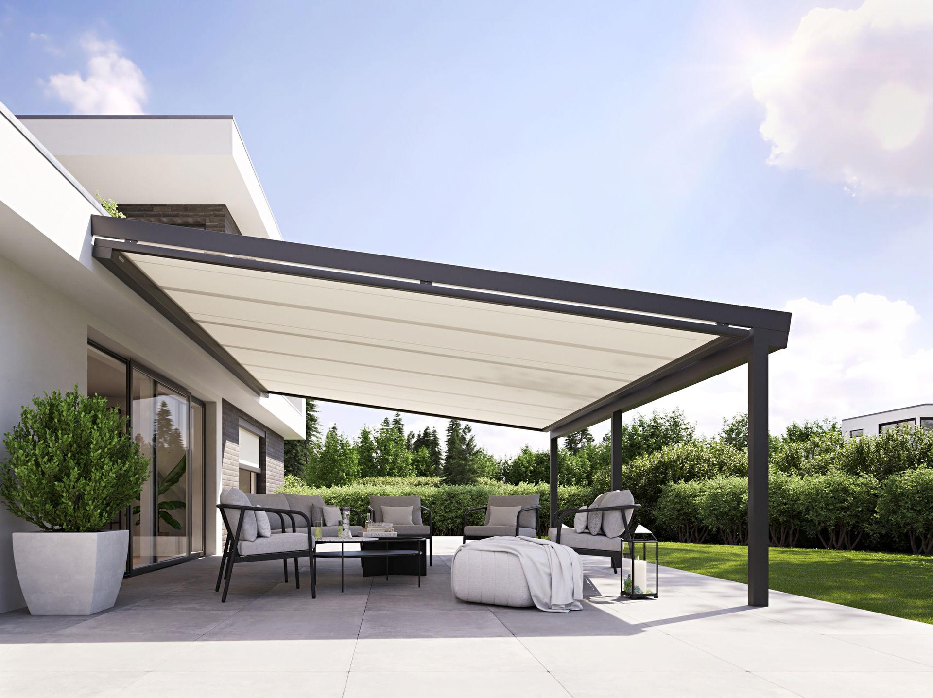 Unterglasmarkise für Terrasse der Marke Markilux von Ottis Fenster und Türen
