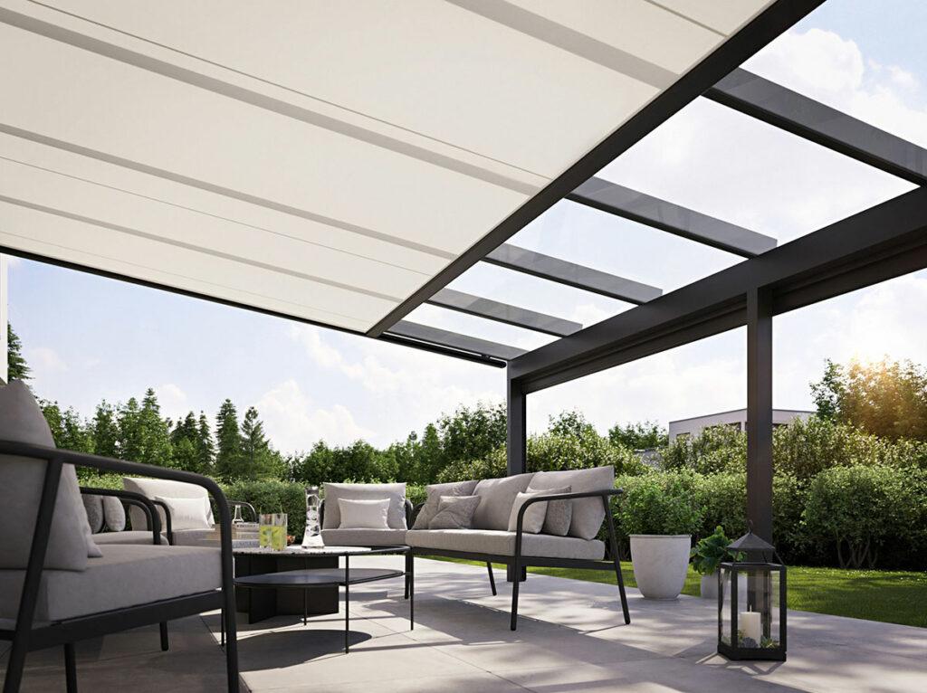 Wintergarten-Markise in weiß von der Marke Markilux-Design