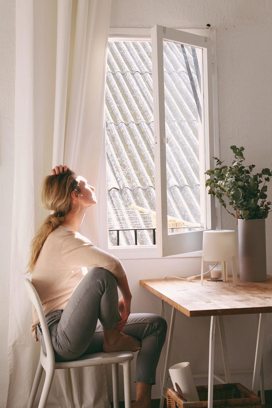 Geöffnetes Fenster mit Insektenschutz von Ottis Türen und Fenster